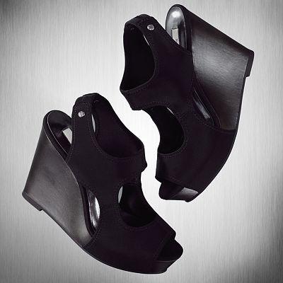 Simply Vera Vera Wang Wedge Sandals | Black wedge sandals