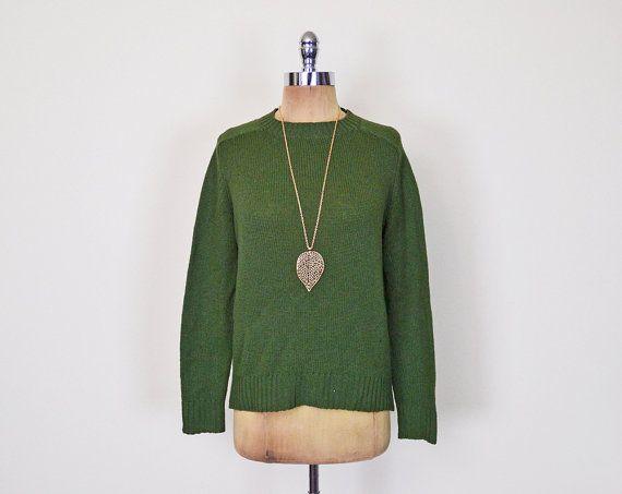 #Vintage #Pendleton #Sweater #Jumper #Green Sweater 100% #Wool Sweater #Knit Sweater #Pullover Sweater #Oversize Sweater #Preppy Sweater #70s Sweater S M L #Oversized #Etsy #EtsyVintage #TrashyVintage @Etsy $34.00