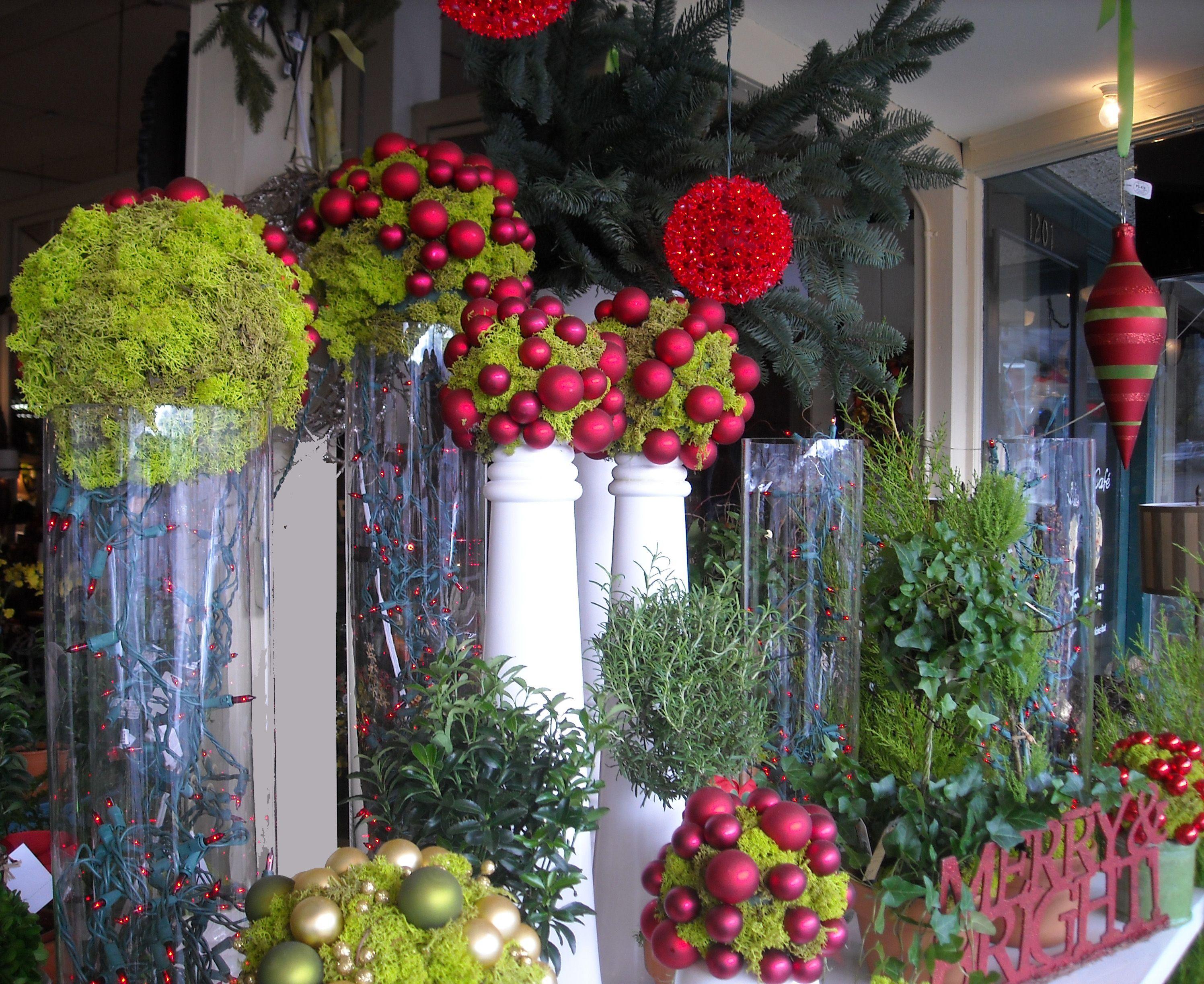 November 2009 Belle Flora Christmas Window Display Shop