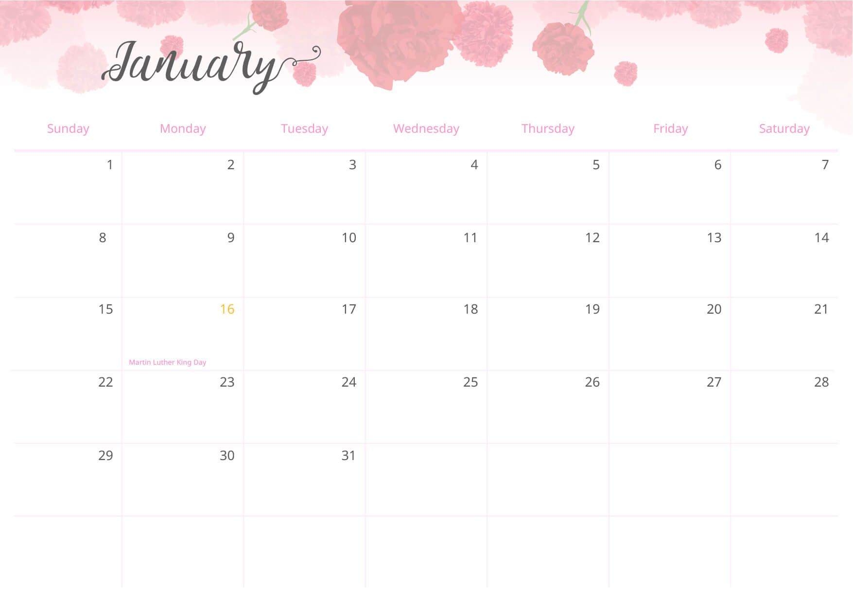 Organize Your Year Beautifully with This Printable ...
