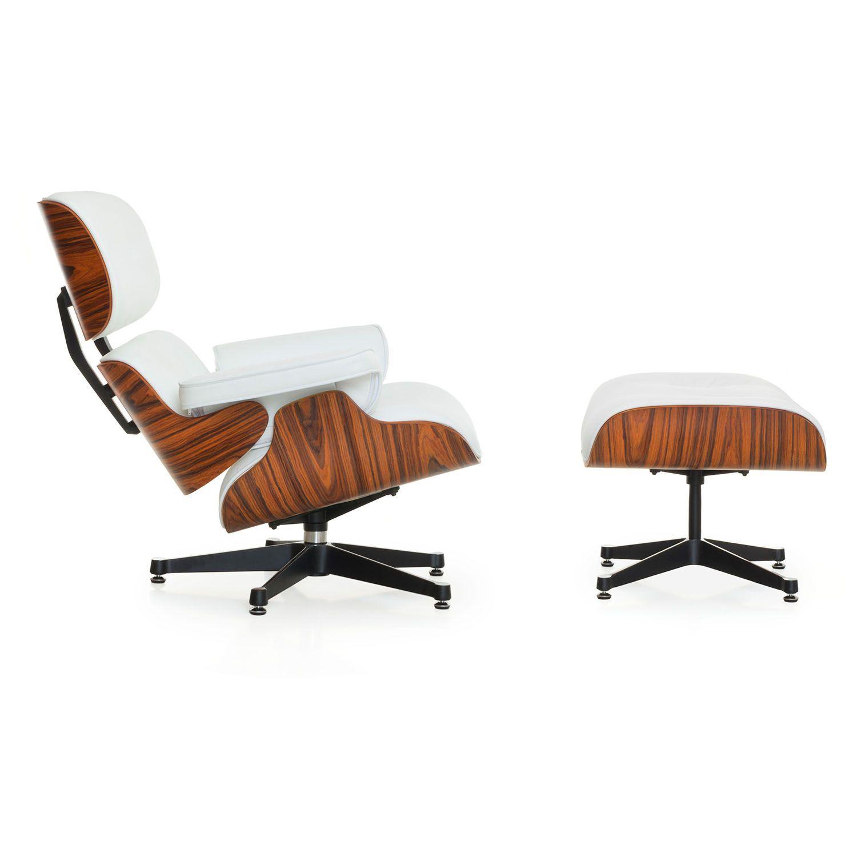 Inspirés Du Fauteuil Et Ottoman Eames Lounge Chair De Charles Ray - Fauteuil design charles eames