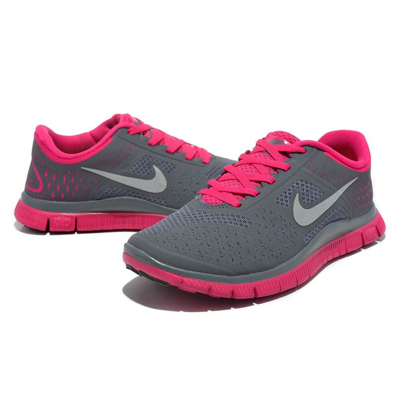 2013 Damen Nike Free Run 4.0 V2 Grau Rosa - - €62.65