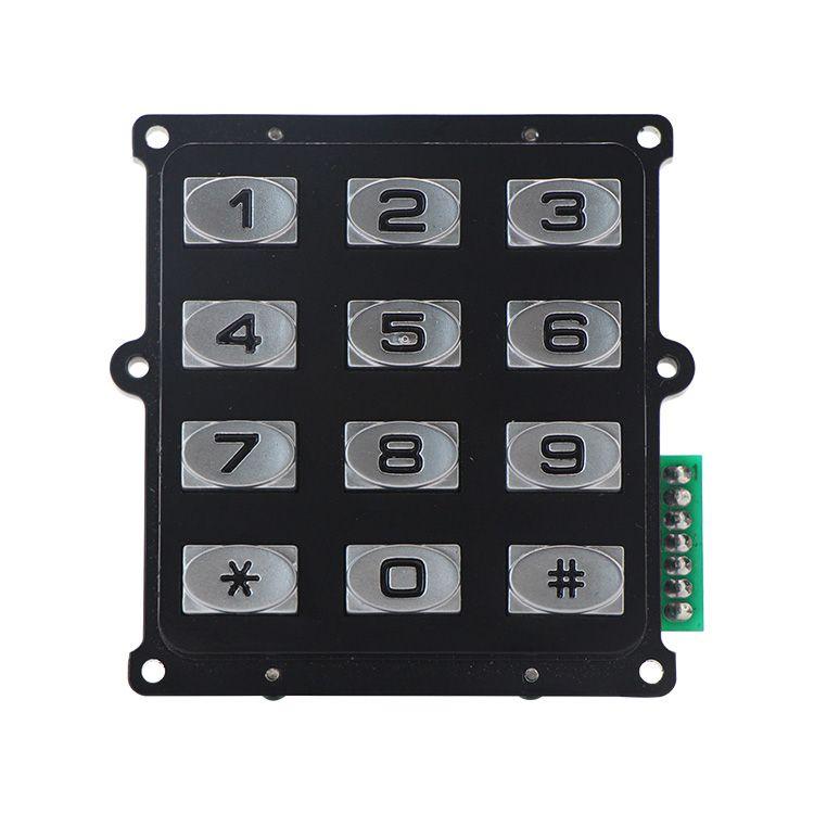 Keypad of front door lock in 2020 industrial metal