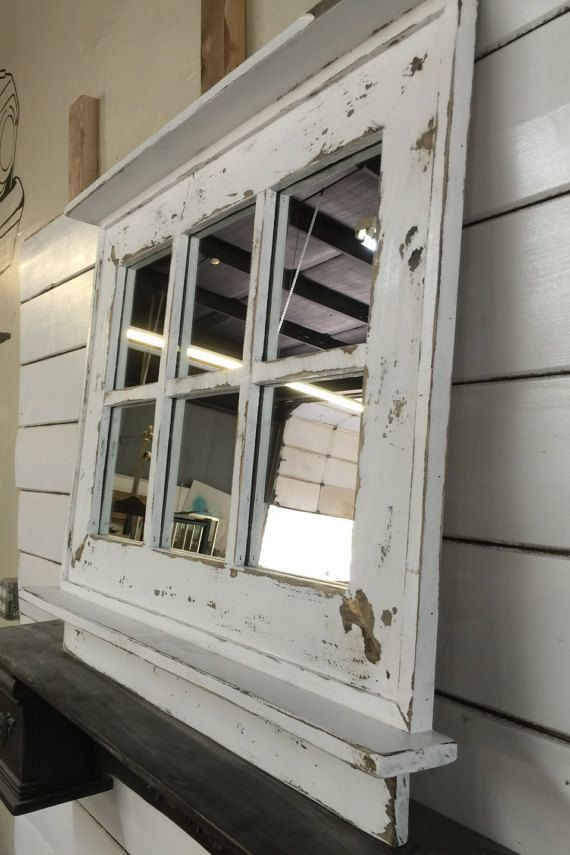 French Country Window Mirror Shabby Wall By Lynxcreekdesigns With Images Window Mirror Farmhouse Mirrors Mirror