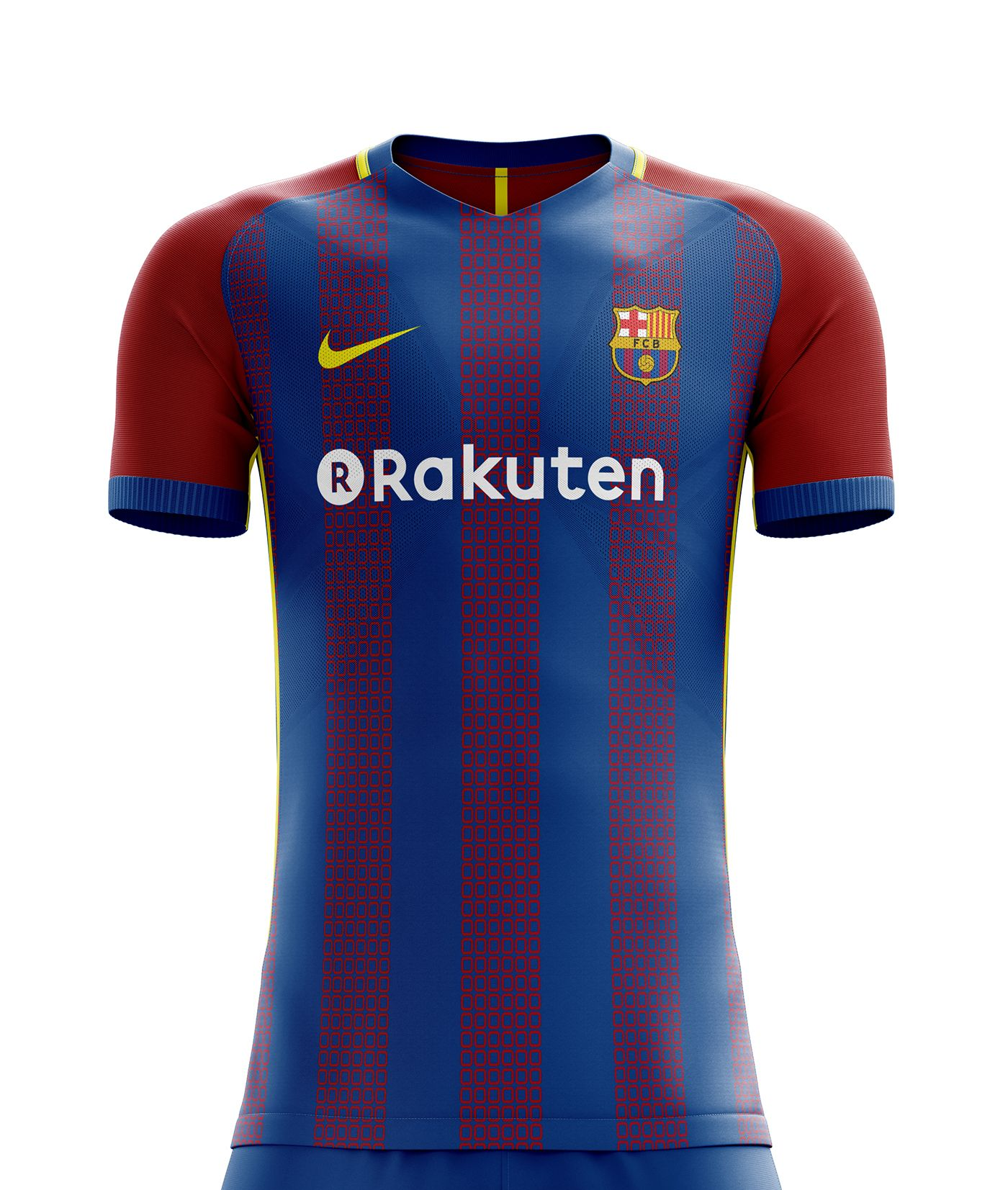 I designed football kits for FC Barcelona for the upcoming season 18 19.  the home kit is inspired by shape of ... 7ba16cb82