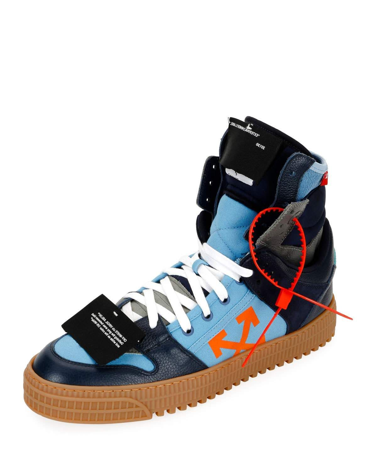 e1662f2b8df6 OFF-WHITE MEN S OFF COURT SUEDE LEATHER HIGH-TOP SNEAKERS.  off-white  shoes