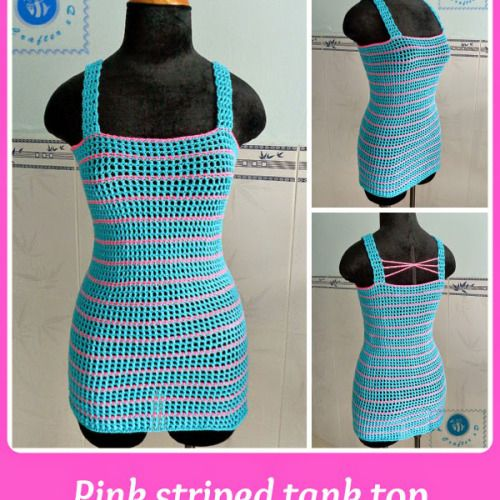 Pink Striped Tank Top ~ Maz Kwok