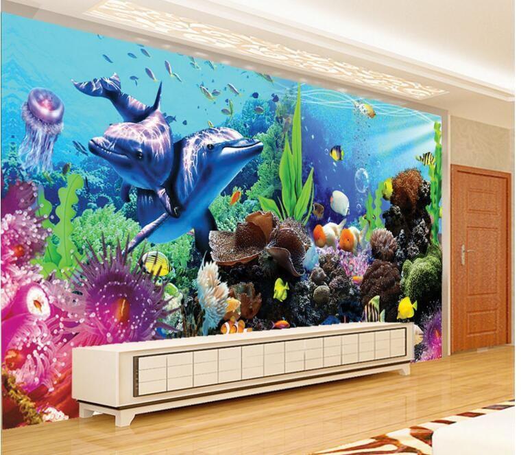 3d room wallpaper custom mural non-woven wall sticker the 3 d stereo