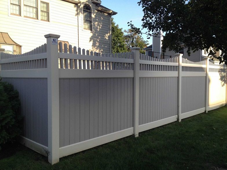 72 Quot Two Tone Infinity With Saturn Scallop Picket Top Pvc