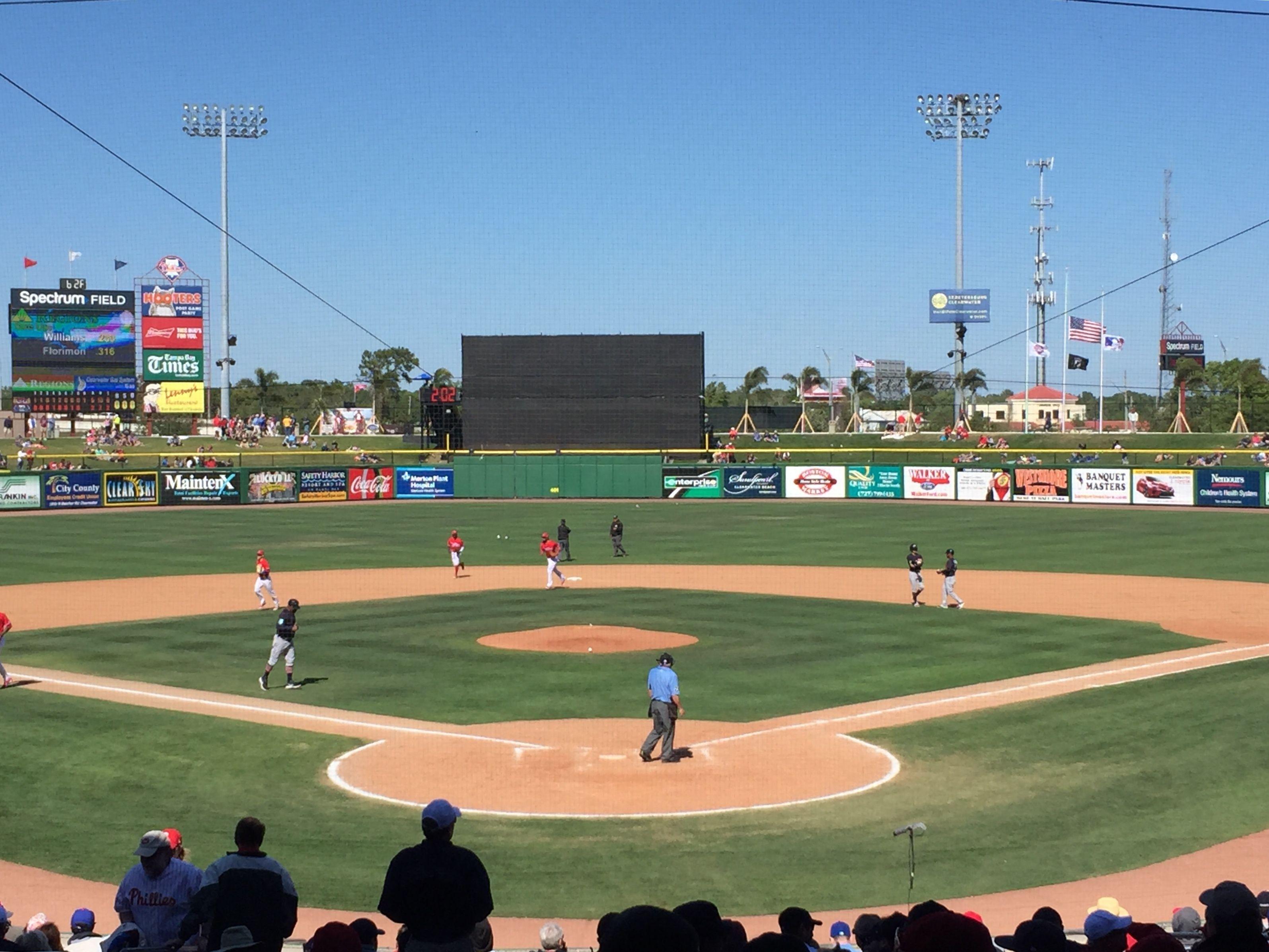 Behind Home Plate Spectrum Field Field Baseball Field Park