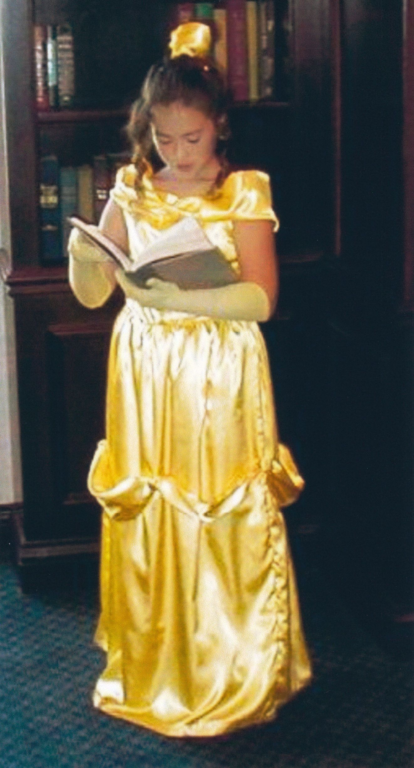 Belle at age dress handmade by her fairy godmother disney