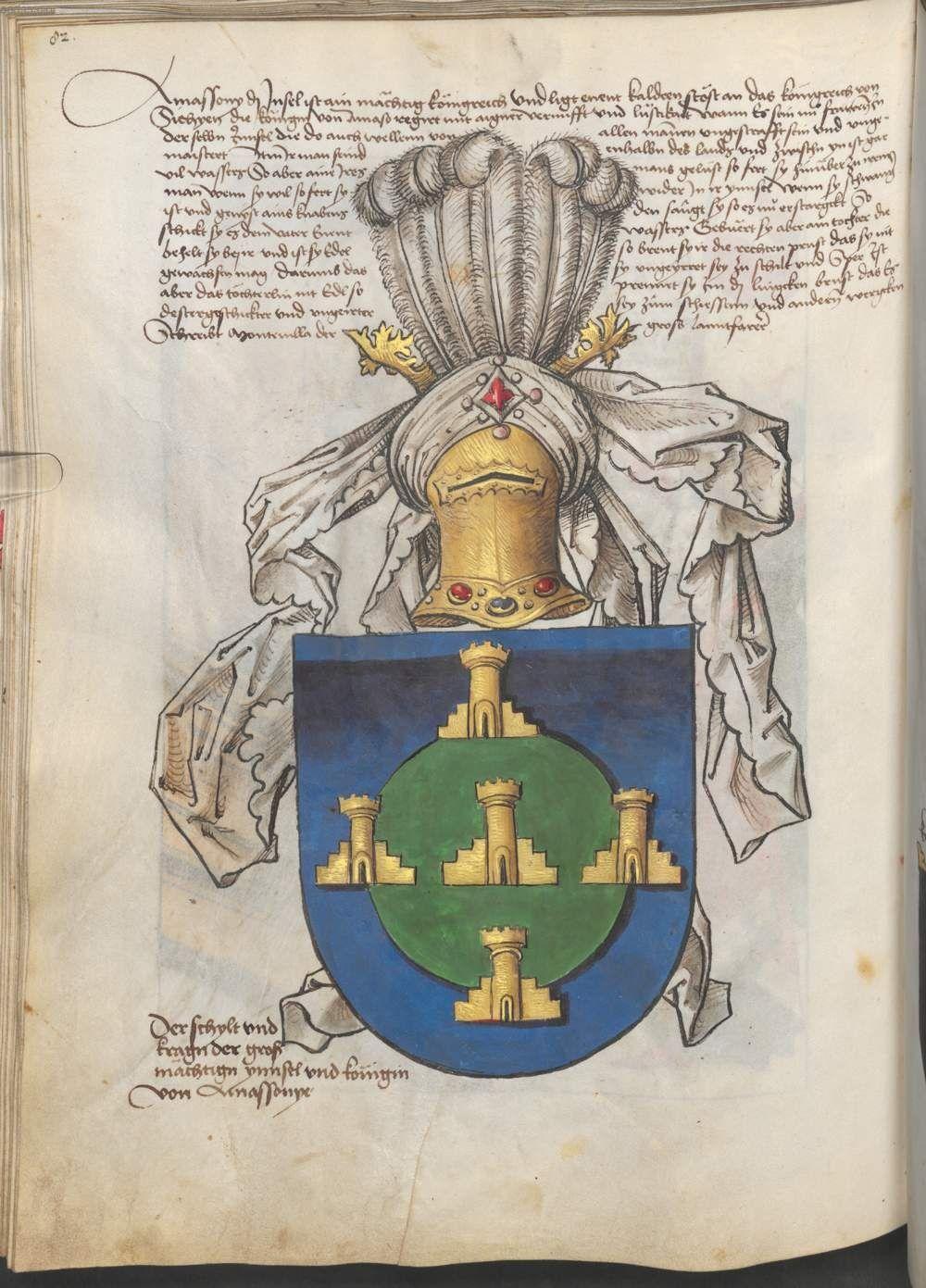 Grünenberg, Konrad: Das Wappenbuch Conrads von Grünenberg, Ritters und Bürgers zu Constanz um 1480 Cgm 145 Folio 87