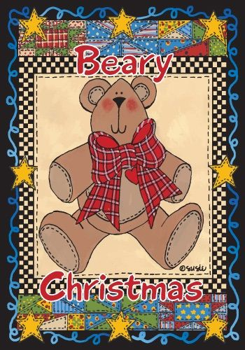 Beary Christmas Flag Christmas Flags Holiday Flags Yard Flags Christmas Flag Holiday Flag Flag Decor