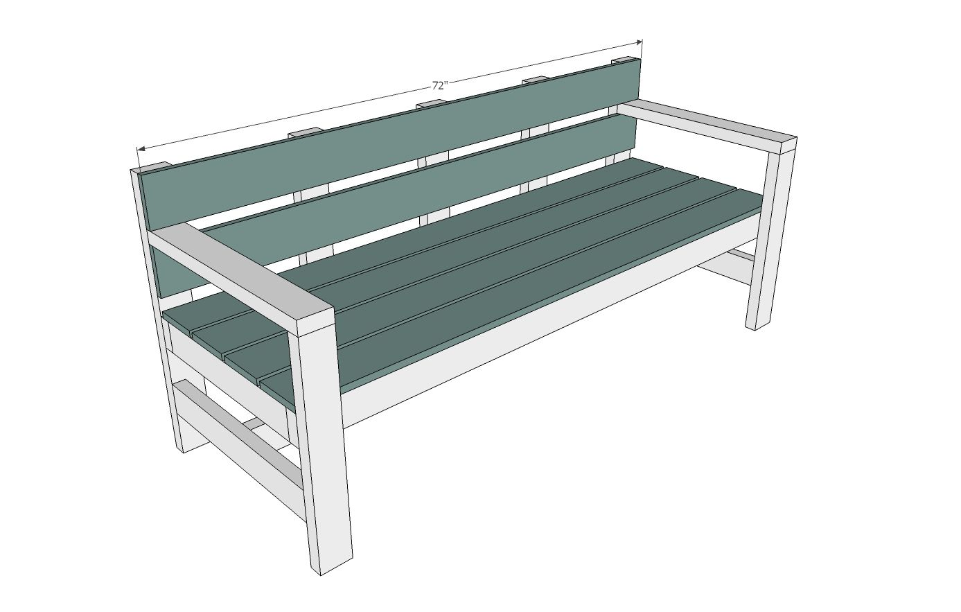 Excellent Modern Park Bench Diy Patio Bench Diy Bench Porch Bench Onthecornerstone Fun Painted Chair Ideas Images Onthecornerstoneorg