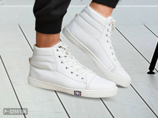 Stylish Men's Casual White Mid Ankle