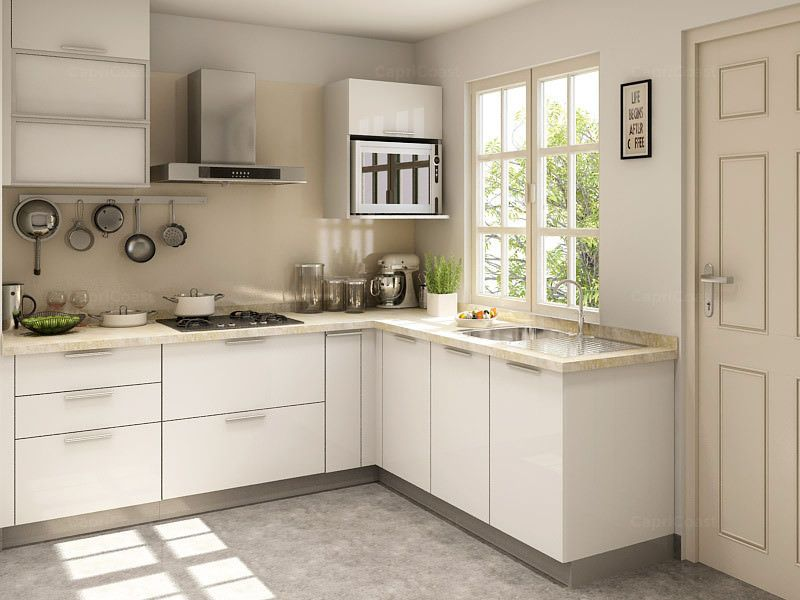 White Modern L Shaped Kitchen Design L Shape Kitchen Layout L Shaped Modular Kitchen L Shaped Kitchen Cabinets