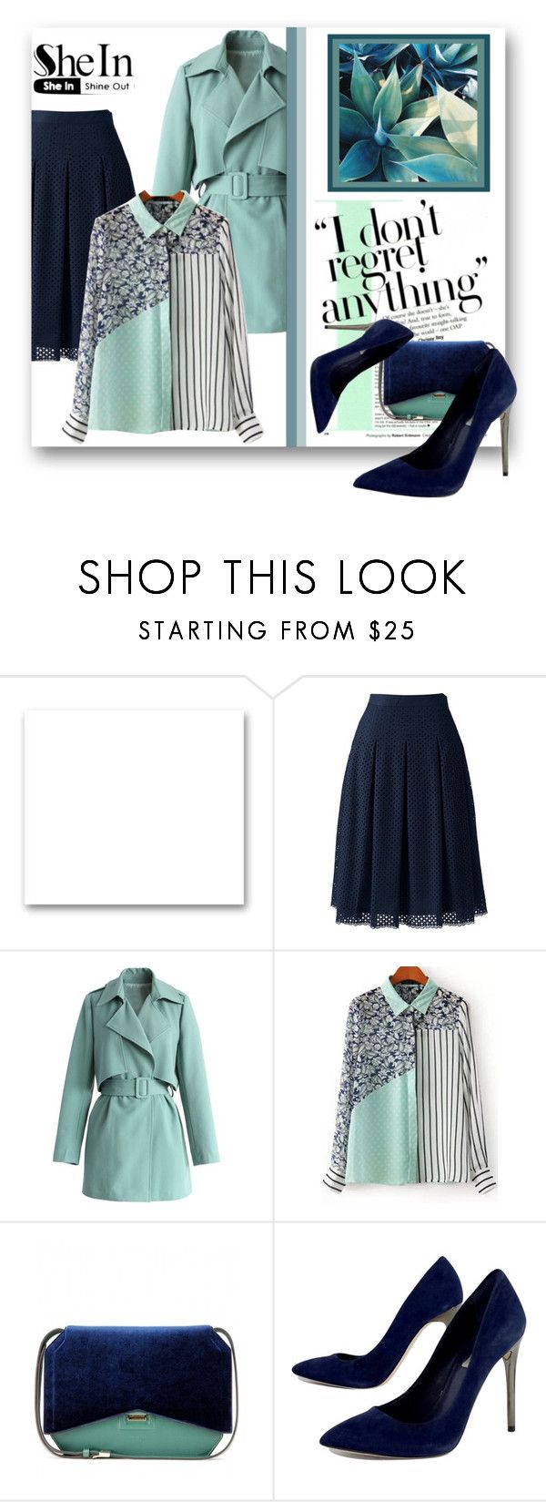 """""""SheIn-Green Blouse"""" by samketina ❤ liked on Polyvore featuring St. John, Lands' End, Chicwish, Givenchy, BCBGMAXAZRIA, women's clothing, women, female, woman and misses"""