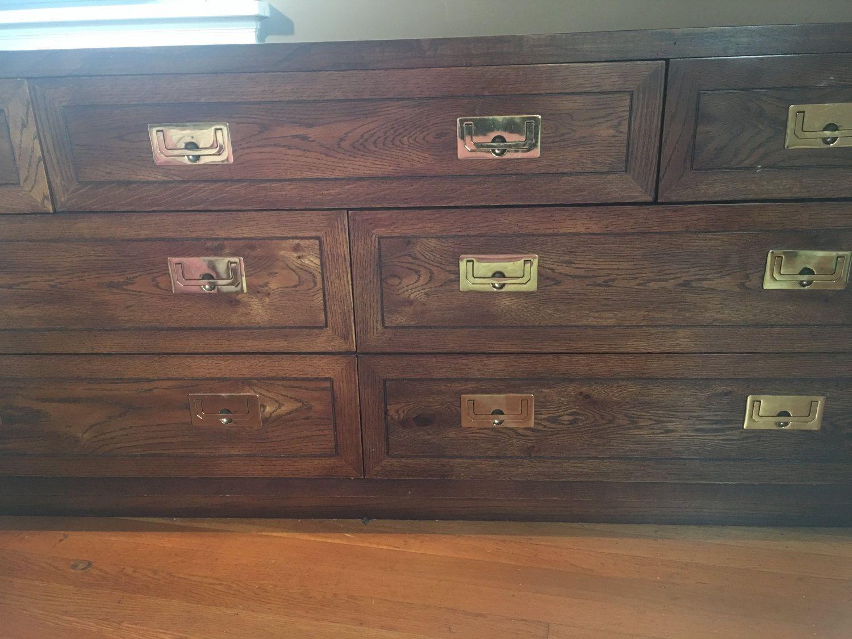 Mid Century Antique Henredon Campaign Style Dresser By Tastecannotbetaught On Etsy Henredon Furniture Henredon Mid Century Antiques