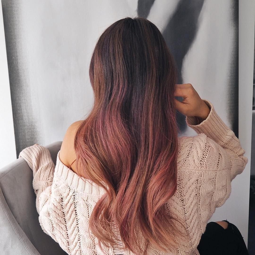 Rose Gold Hair Is The Hair Color For This Fall And Complements Every Skin Tone Via Lorealhair Instagram Hair Color Rose Gold Hair Color Good Skin