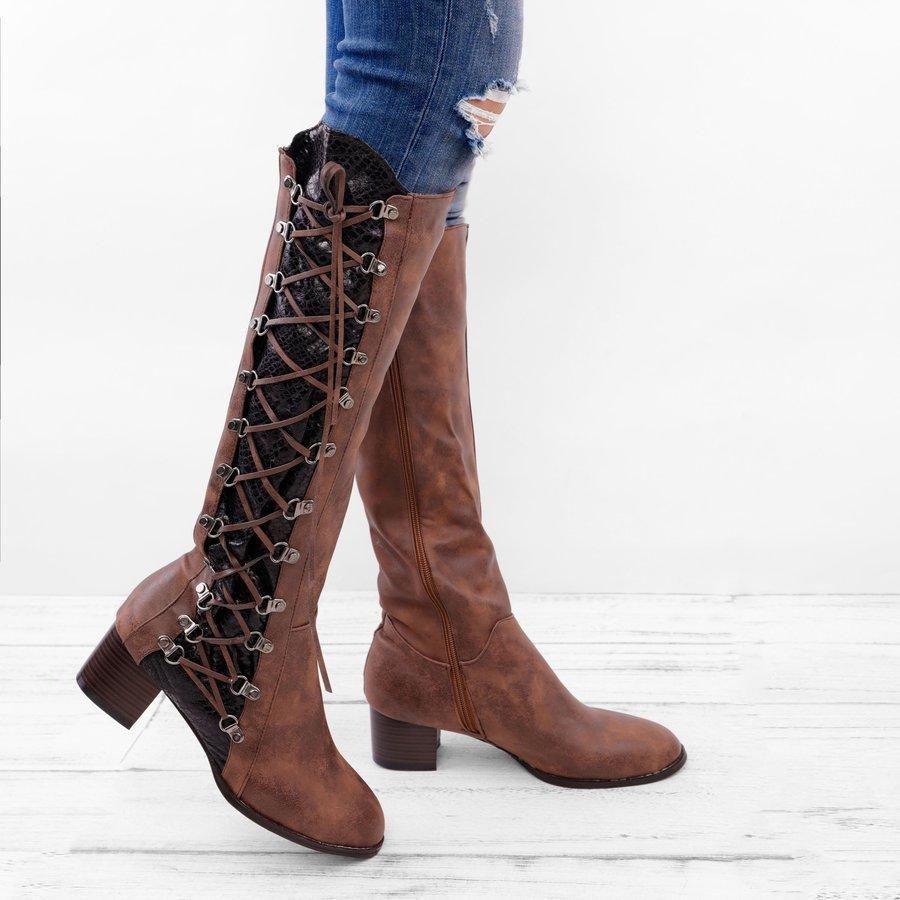 Details about  /Women/'s Suede Knee High Snow Boots Buckle Winter Shoes Block Heel Fleece Fashion