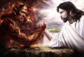 Representación ficticia del enfrentamiento entre el bien y el mal