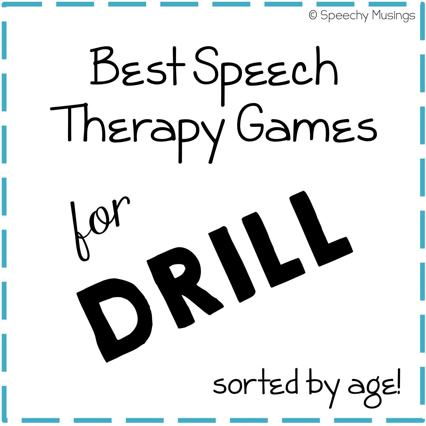 Best Speech Therapy Games for Drill by Age | Speech Therapy Games ...