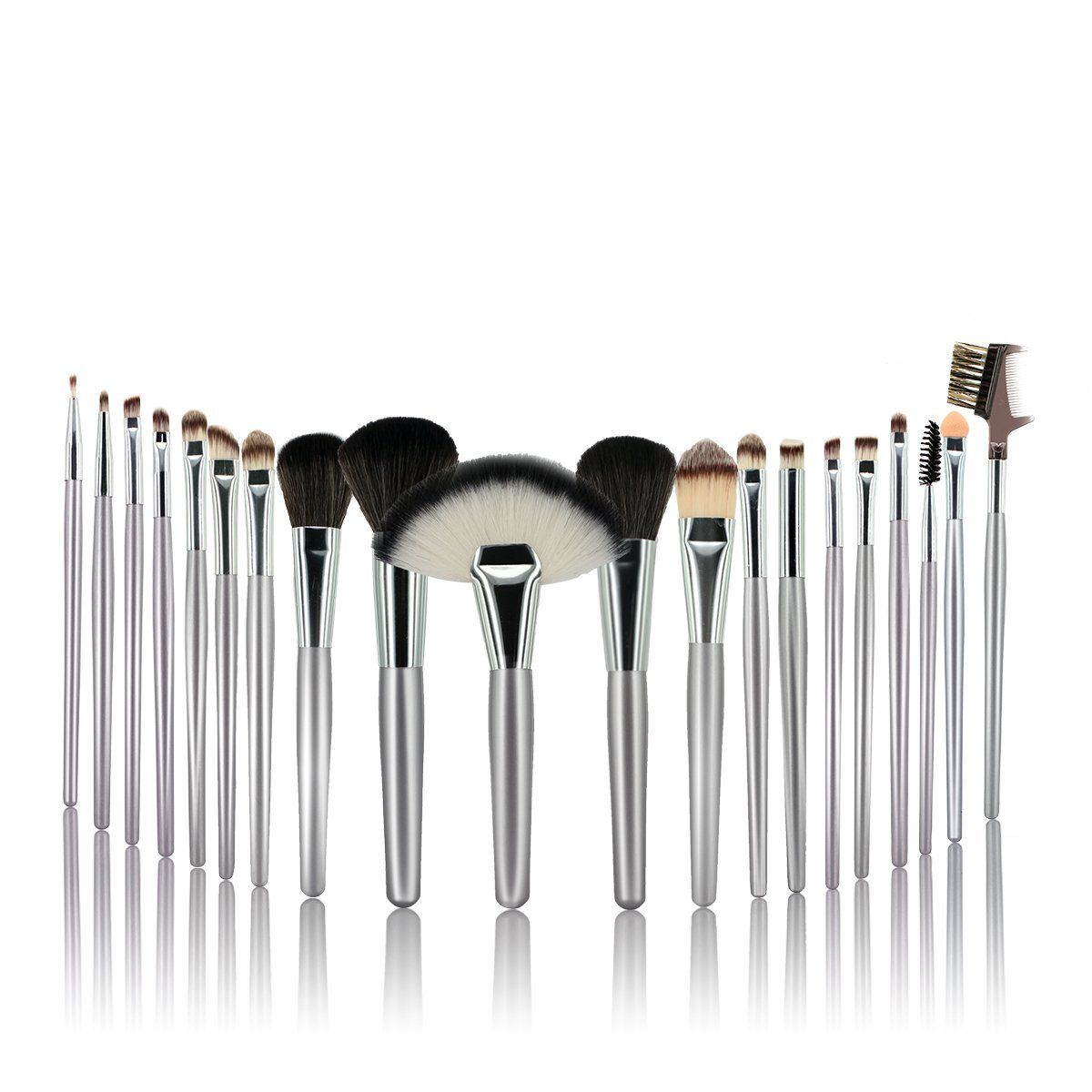 AmoVee® Cosmetic Brush Set Premium Synthetic Wool Hair
