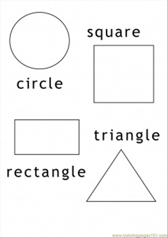 Free Worksheets Geometric Shapes Coloring Pages Shapes