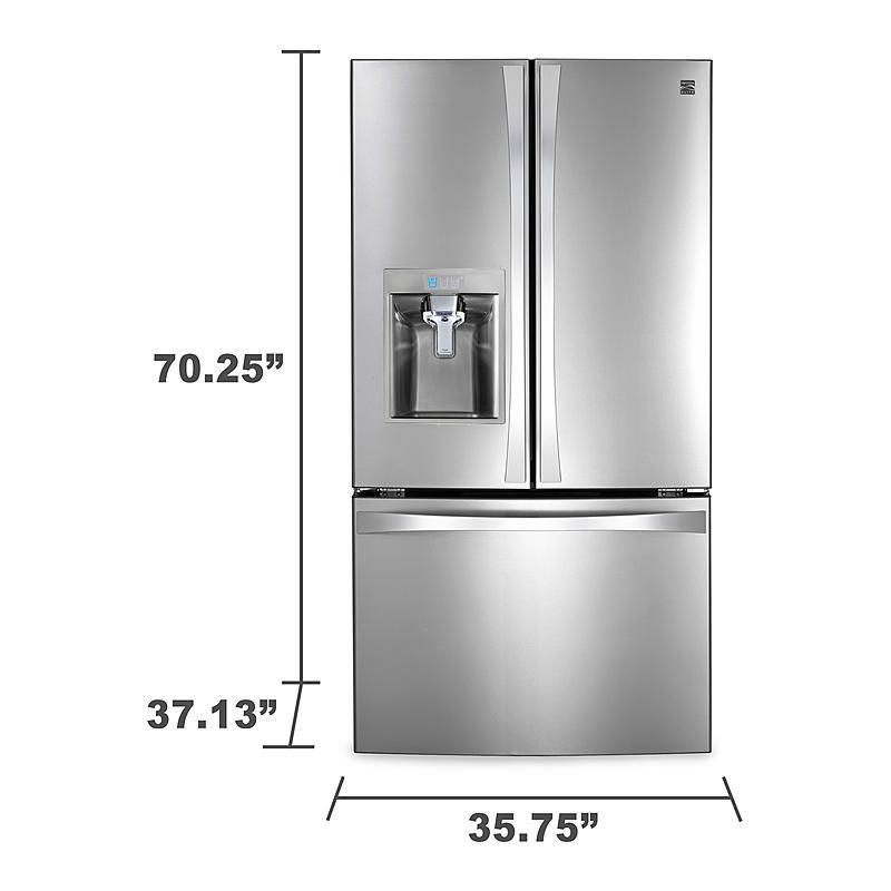 Kenmore Elite 74093 31 7 Cu Ft Super Capacity French Door Bottom Freezer Refrigerator Stainless Steel Bottom Freezer Refrigerator French Door Bottom Freezer Refrigerator Kenmore Elite Refrigerator
