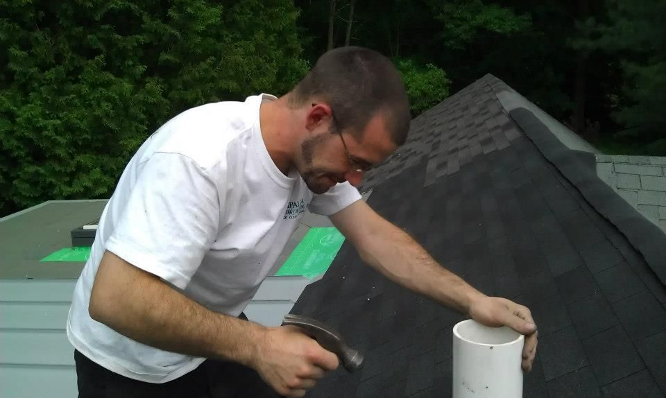 Installing a Vent on the roof PapaliaPlumbing Services