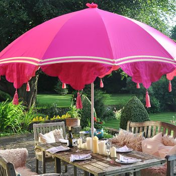 Garden Parasol With Tassels And Ribbons With Images Garden