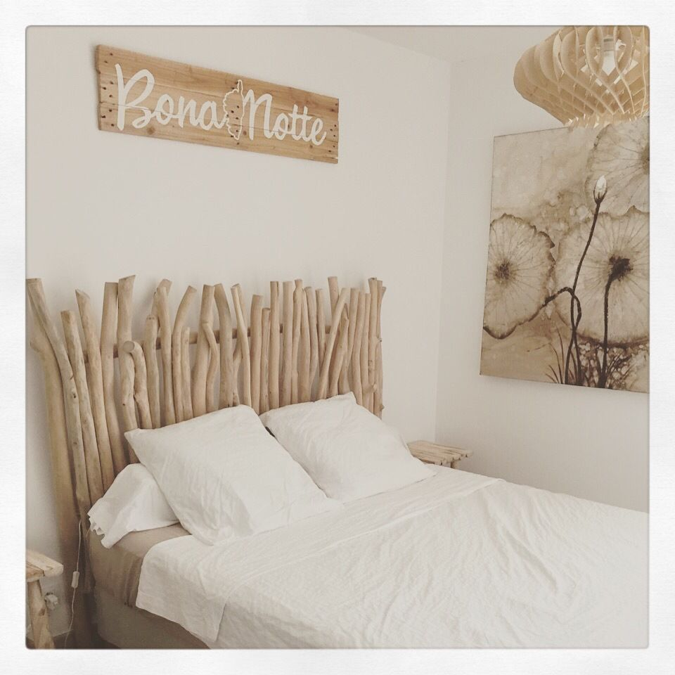panneau en bois avec inscription t te de lit d corations murales par in the wood 4 love. Black Bedroom Furniture Sets. Home Design Ideas