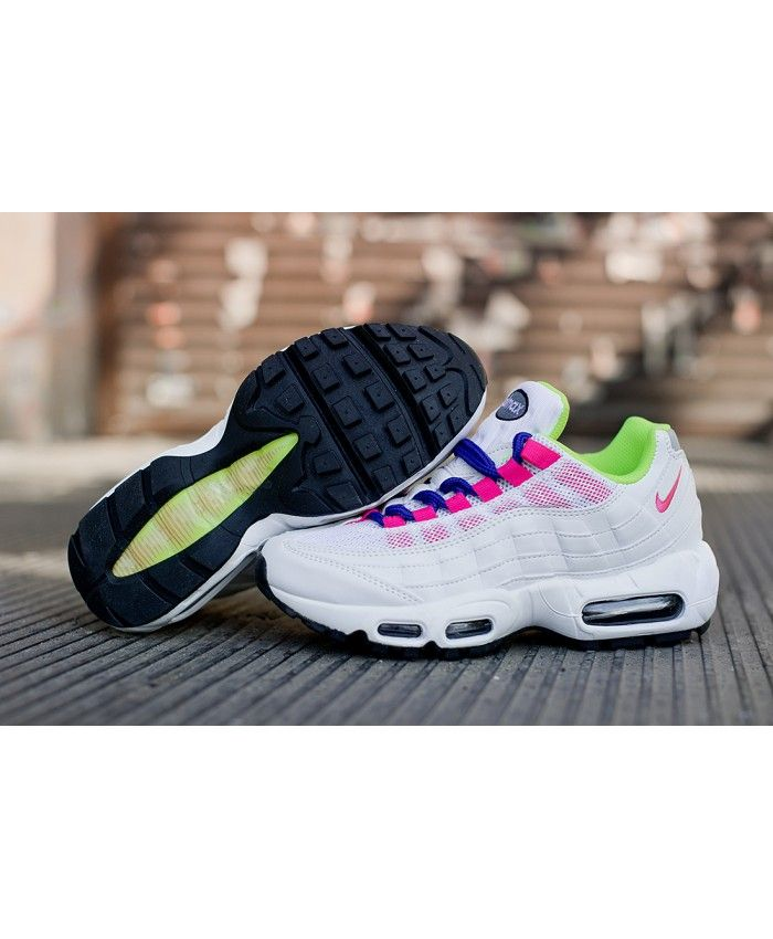 new arrivals bb6d3 9e98c Pink White Green Nike Air Max 95 Trainers | air max 95 pink ...
