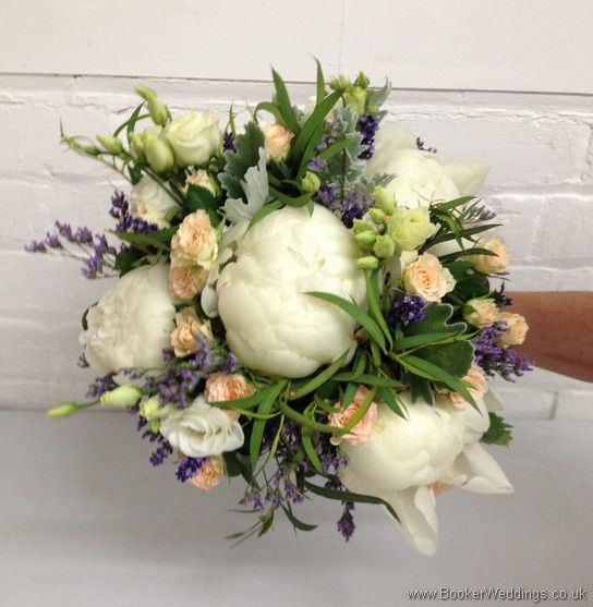 Just Picked English Country Garden Cream And Purple Bridal Bouquet With Peonies Lissianthu Lavender Wedding Flowers Real Wedding Flowers Purple Bridal Bouquet