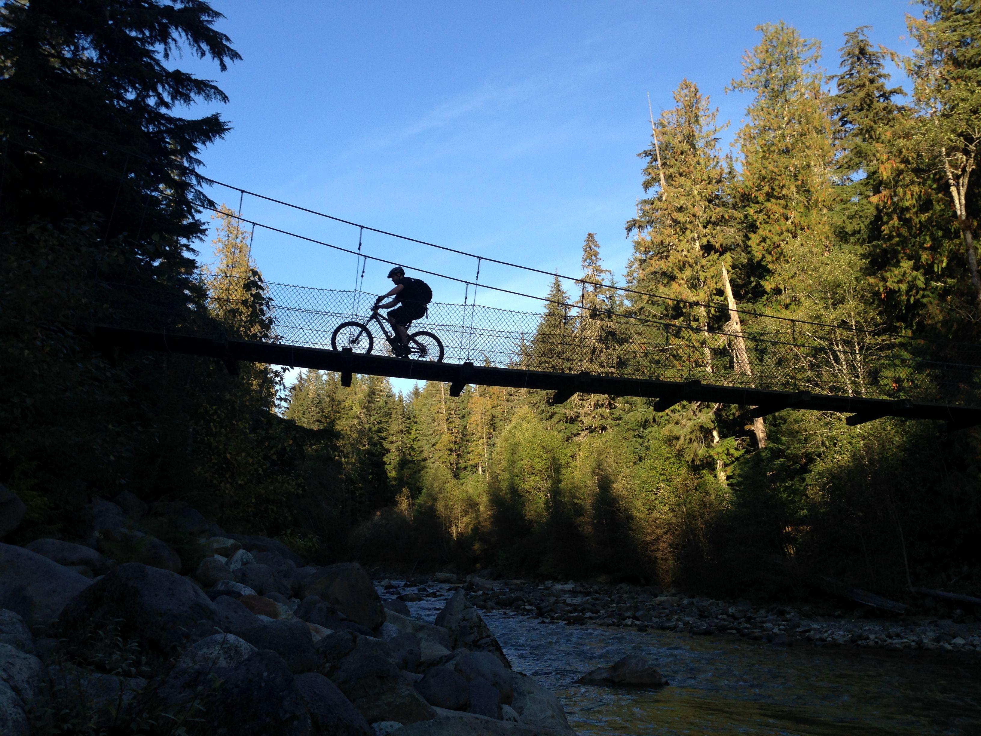 Suspension Bridge On Sea To Sky Trail Near Brandywine Falls And