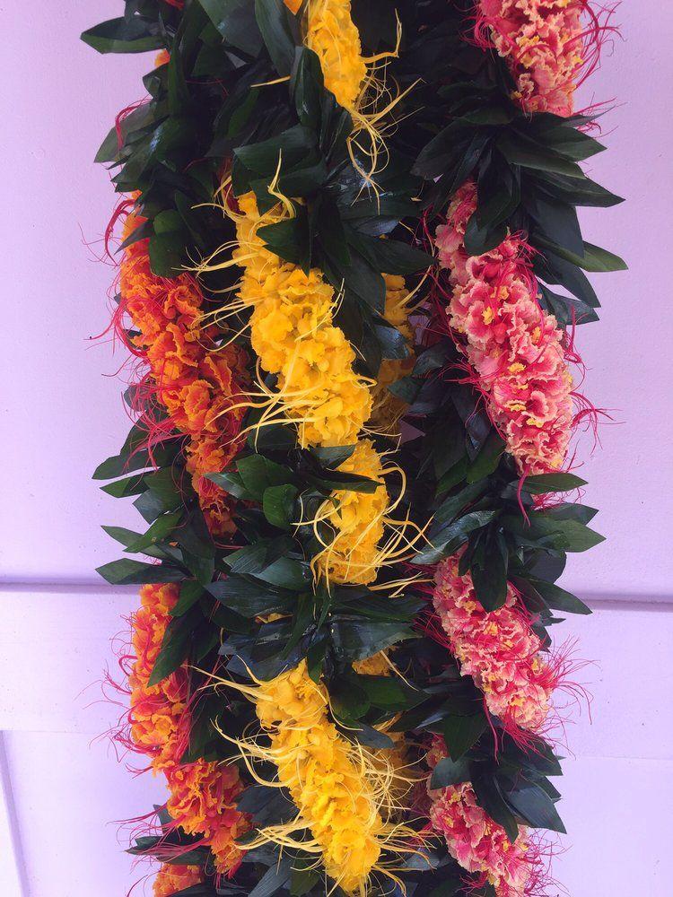 Photo Of Cindy S Lei Flower Shoppe Honolulu Hi United States Ti Leaf Style Maile With Ohai Alii Wedding Shop Flowers Flower Lei