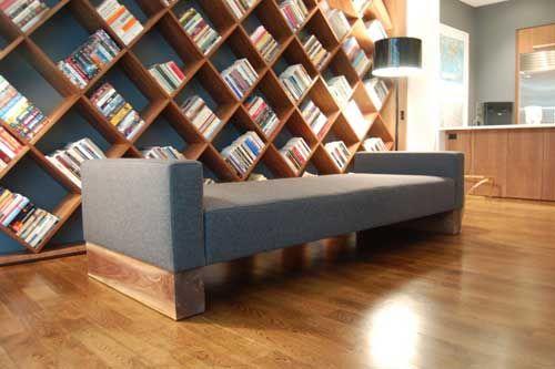 DIY Diagonal Bookcase Design Plans PDF Download Cool Woodshop