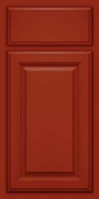 Superbe Kraftmaid Cardinal Red Cabinet