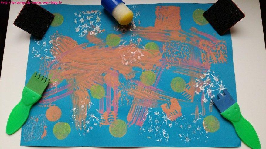 1maman2filles activite-manuelle-pinceaux