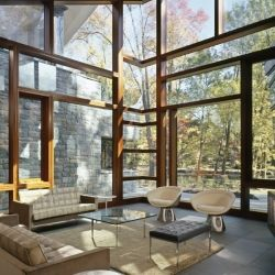 The Glenbrook Residence is a beautiful and contemporary stone house in Maryland.