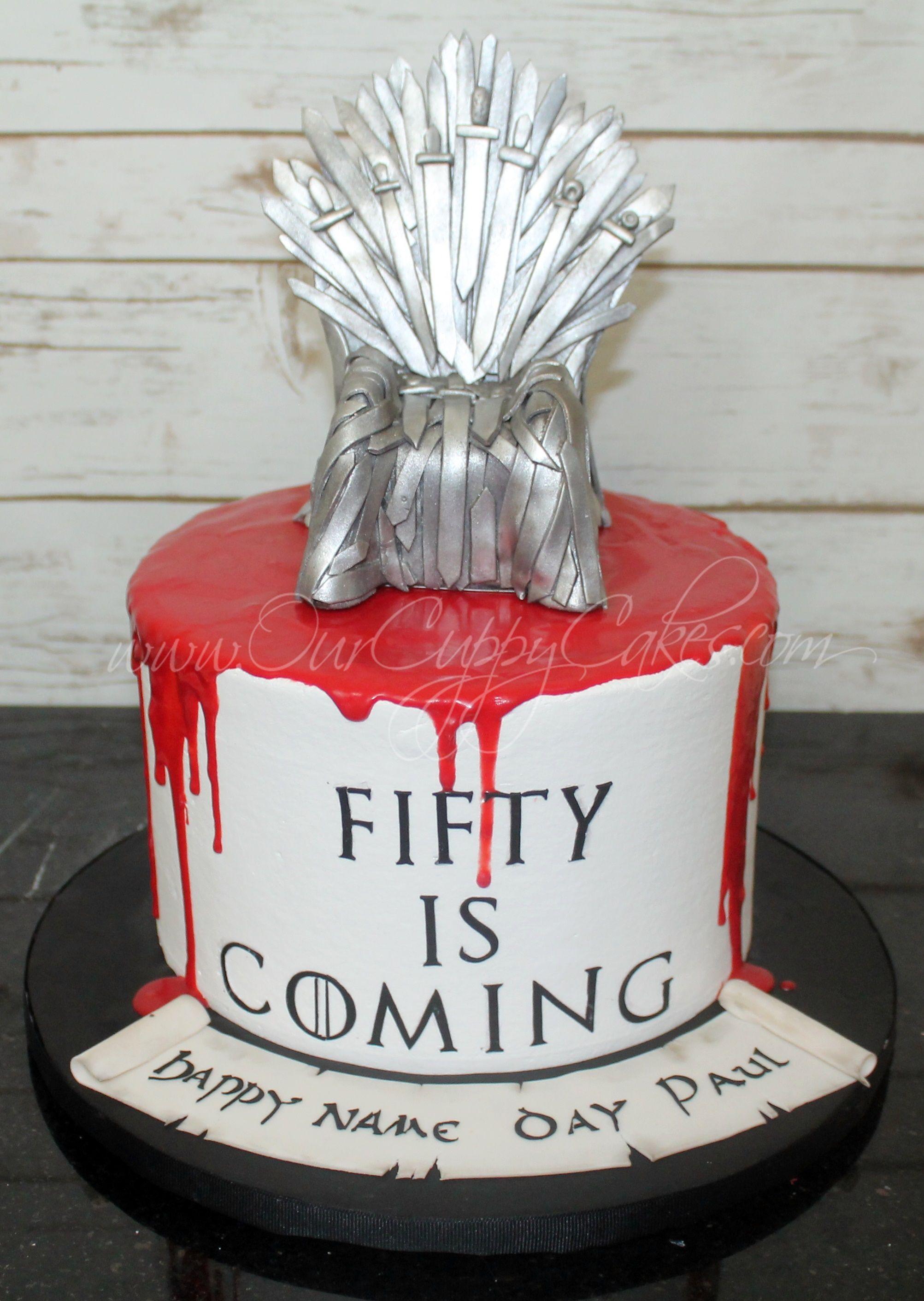 Game Of Thrones 50th Birthday Cake 50th Birthday Cake Cake Birthday Cake