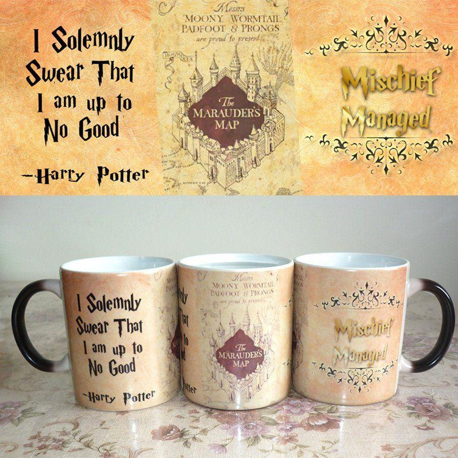 3 Designs On 1 Mug Hp New Magical Mug Harry Potter Marauders Map Harry Potter Magic Marauders Map