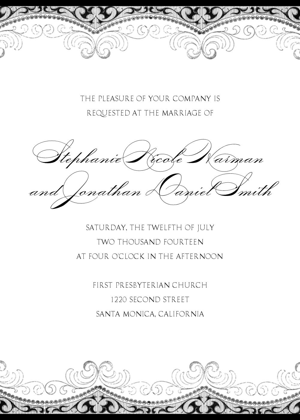 Free Wedding Invitation Wording In Spanish