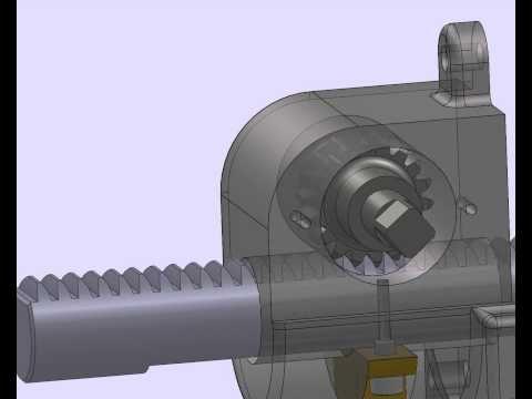 application of rack pinion mechanism 3