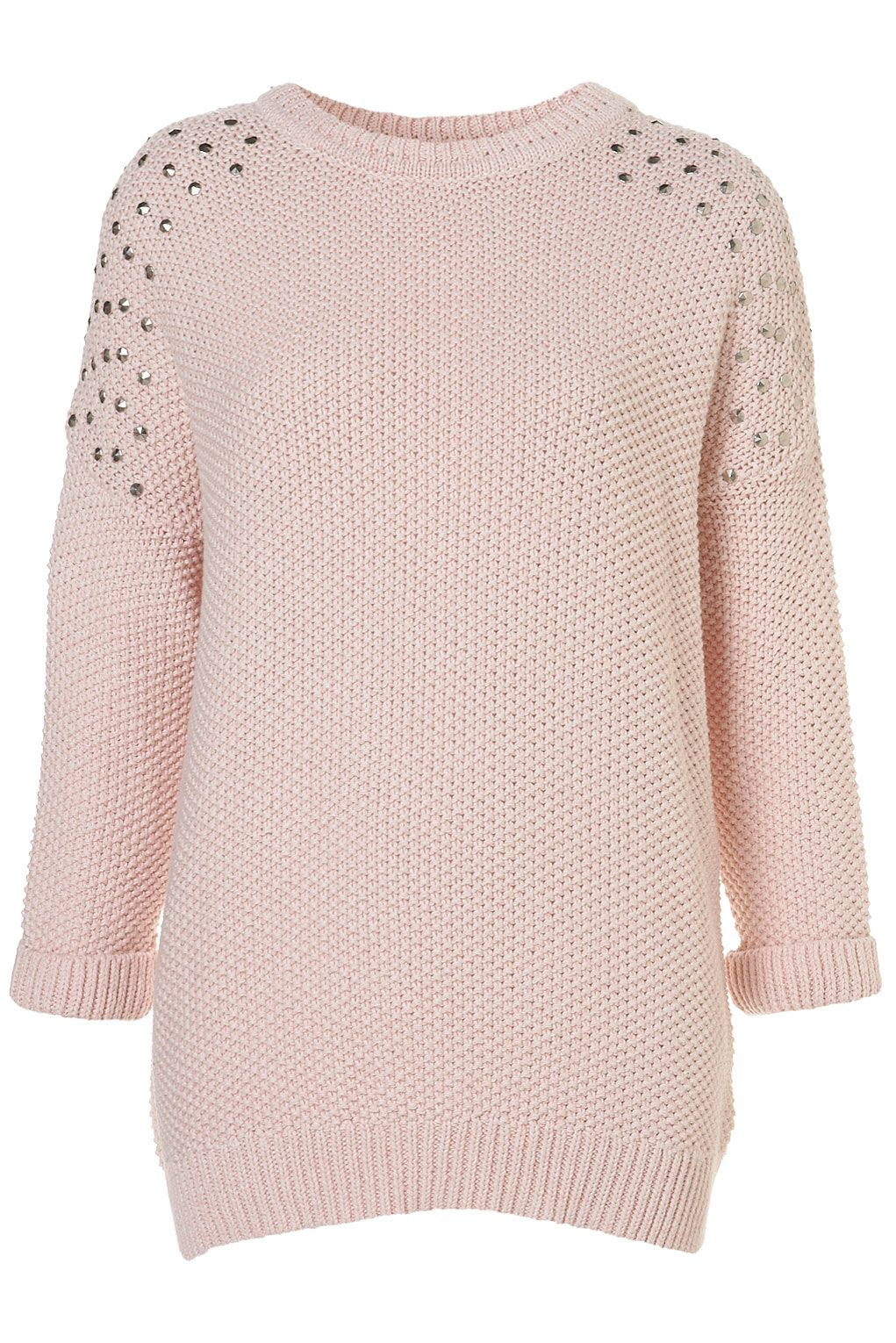 TOPSHOP - Knitted Stud Cotton Jumper  4fd60aefe