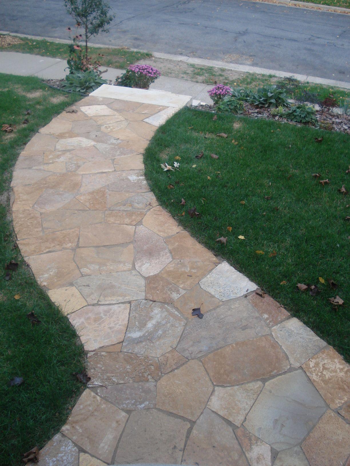 Flagstone Walkway Design Ideas home decorating ideas home improvement cleaning organization tips Desert Bronze Flagstone Walkway