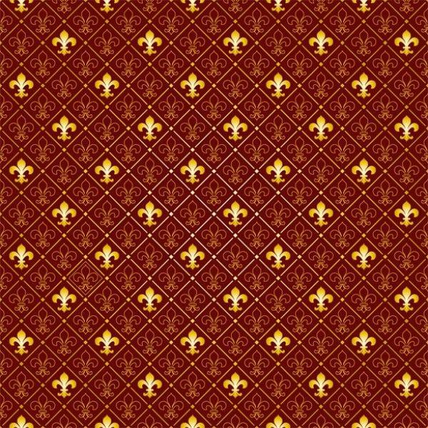 4 Fleur de Lys Pattern Tileable Vector Background - http://www.dawnbrushes.com/4-fleur-de-lys-pattern-tileable-vector-background/