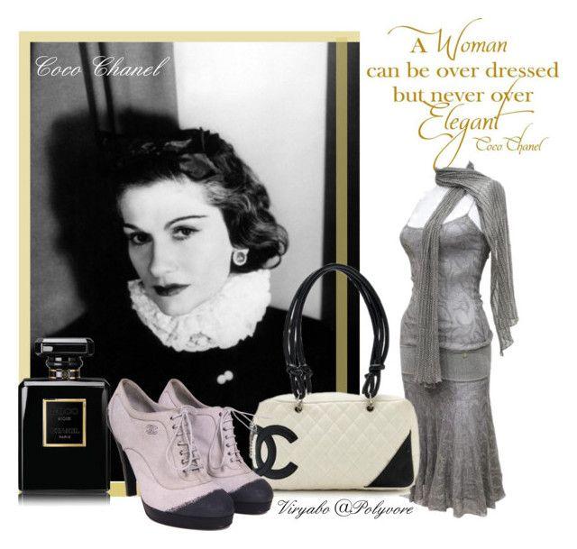 6ec2b7a7eb01 Coco Chanel - 20s Fashion Designer by viryabo on Polyvore featuring  polyvore fashion style Chanel vintage clothing dress shoes handbag perfume
