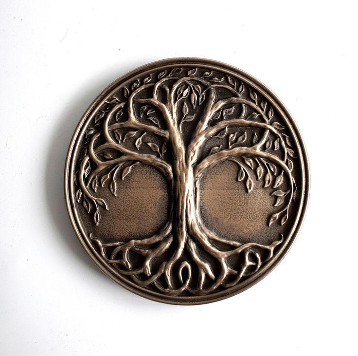 Tree of life Celtic Knotwork Viking Yggdrasil Bronze Wall Mount Sculpture Art