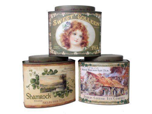 Vintage Irish Tea Tins - Food Safe - Set of 3 in Home & Garden,Kitchen, Dining & Bar,Kitchen Storage & Organization | eBay